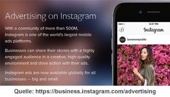 Werbung auf Instagram Ads